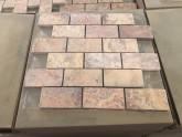 5x10 cm Rosa Traverten Mozaik